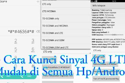 Cara Mengunci Sinyal atau Jaringan 4G LTE Di Semua Hp/Android