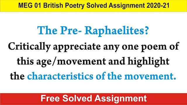 pre raphaelites, meg 01 british poetry