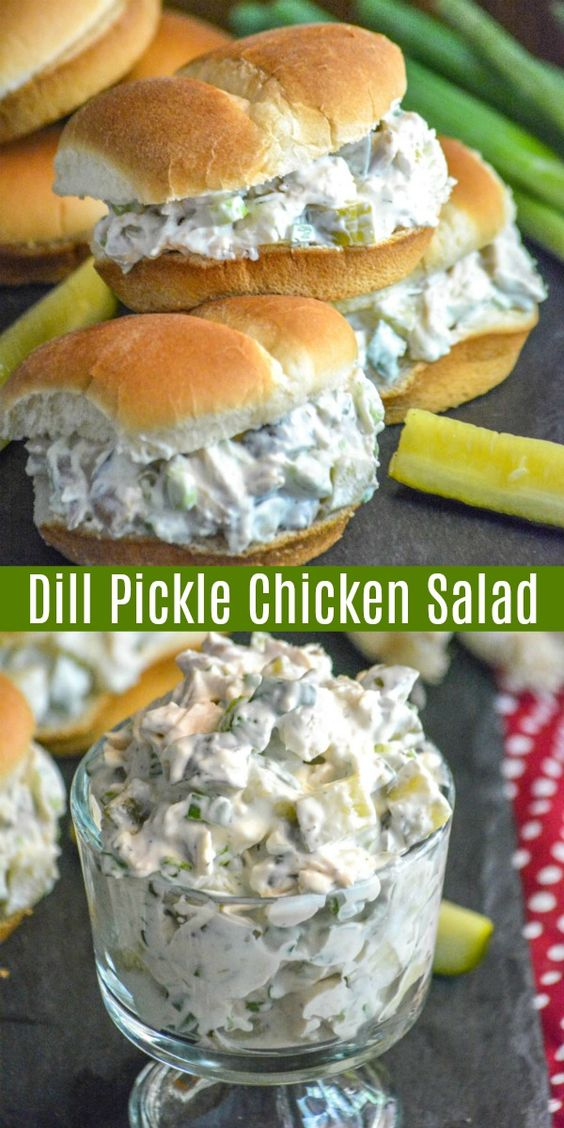 DILL PICKLE CHICKEN SALAD #recipes #dinnerideas #easydinnerideas #easysaturdaydinnerideas #food #foodporn #healthy #yummy #instafood #foodie #delicious #dinner #breakfast #dessert #lunch #vegan #cake #eatclean #homemade #diet #healthyfood #cleaneating #foodstagram