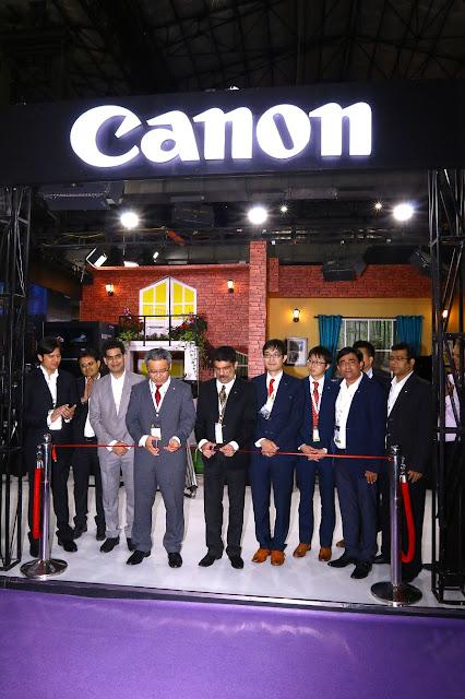 Mr. Kazutada Kobayashi President  CEO Canon India Inaugerating Canon sta...