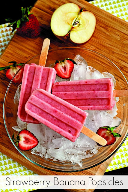 Strawberry Banana Popsicles Recipe