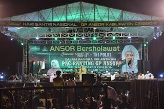 Ansor Bersholawat di hadiri Kapolres Cirebon