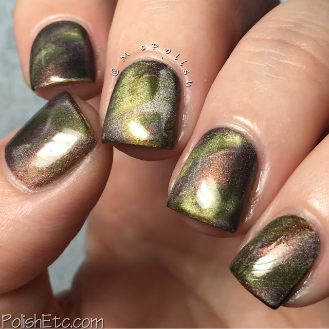 Metallic Camo using Masura magnetic polishes - McPolish - #31DC2016Weekly