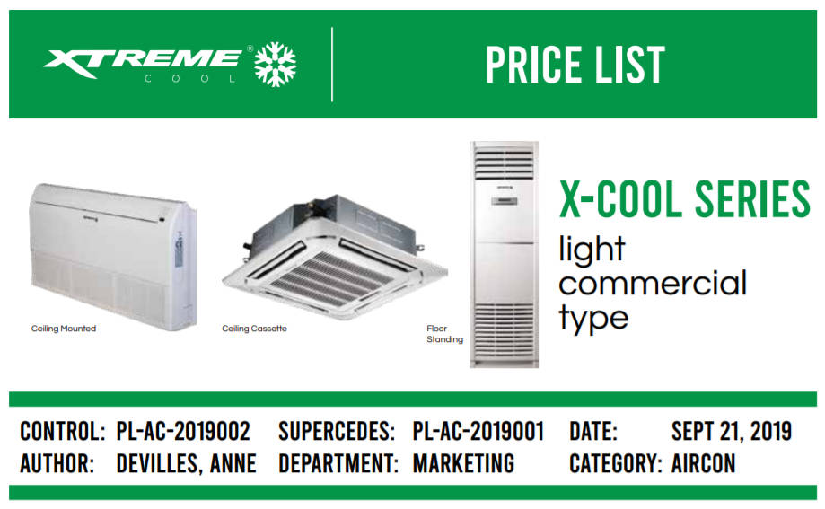 Xtreme Commercial Air Conditioning Unit