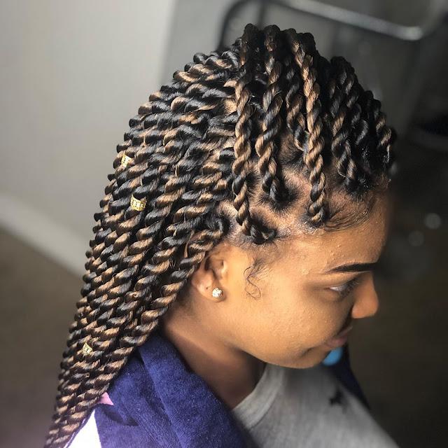 2019 Twist Braid Hairstyles