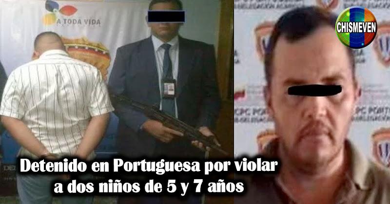 Detenido en Portuguesa por violar a dos niños de 5 y 7 años