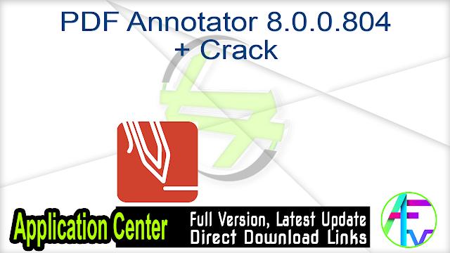 PDF Annotator 8.0.0.804 + Crack