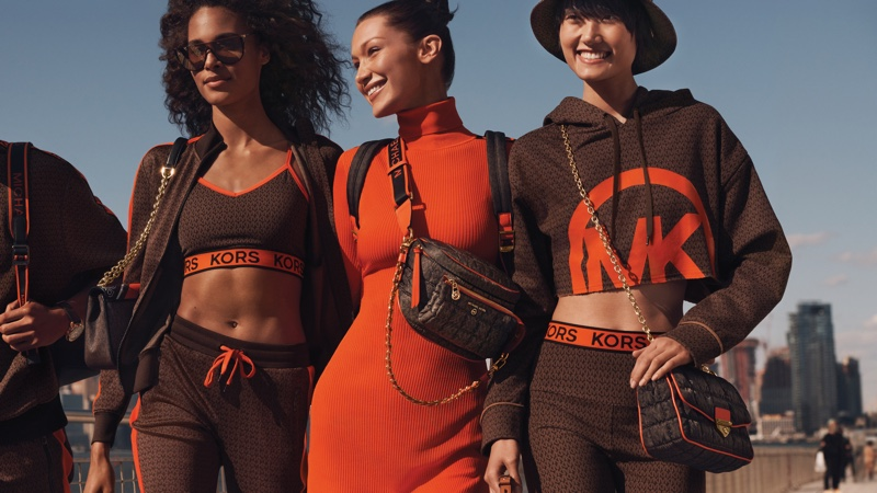 Bella Hadid is sporty glam for the MICHAEL Michael Kors Fall/Winter 2021 Campaign