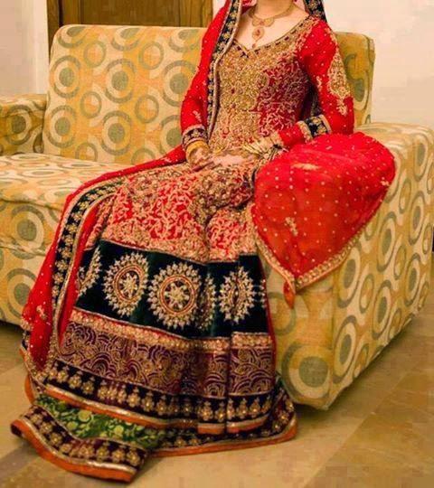 New Pakistani Traditional Bridal Dresses 2015