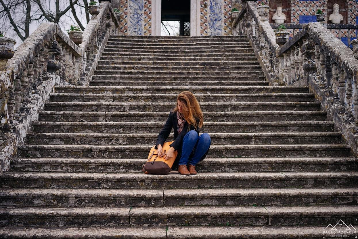 Escadaria que dá acesso à Galeria dos Reis