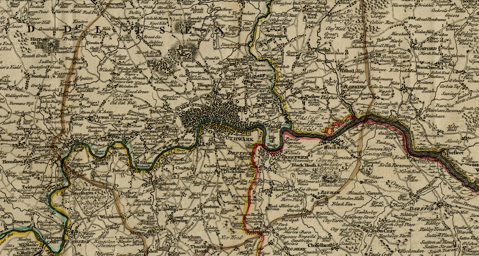 London and environs (1773)