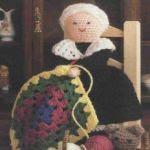 patron gratis muñeca anciana amigurumi | free pattern amigurumi old doll