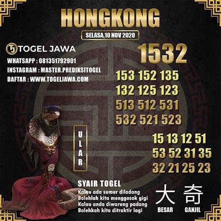 Prediksi Togel Jawa Hongkong Selasa 10 November 2020