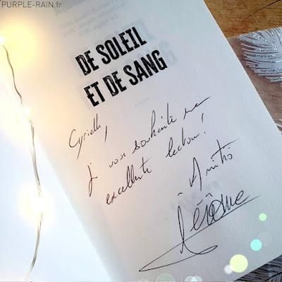 Livre : De soleil et de sang •• Jérôme Loubry