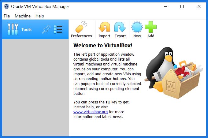 Run Virtualbox