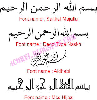 Font Arabic Keren