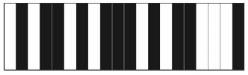 Observe ao lado um exemplo simplificado de um código em um sistema de código com 20 barras.