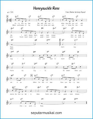 Honeysuckle Rose chords jazz standar