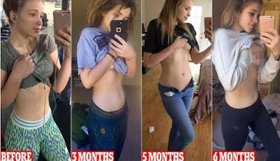 Pamer Hamil 6 Bulan, Tapi Perut Wanita Ini Nyaris Rata