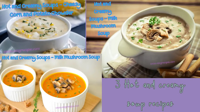 3 Hot and creamy soups recipes easy to make you will love it