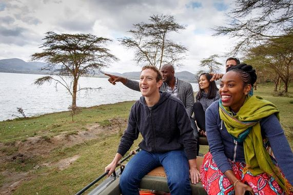 Mark Zuckerberg goes on a wildlife tour in Kenya (photos)