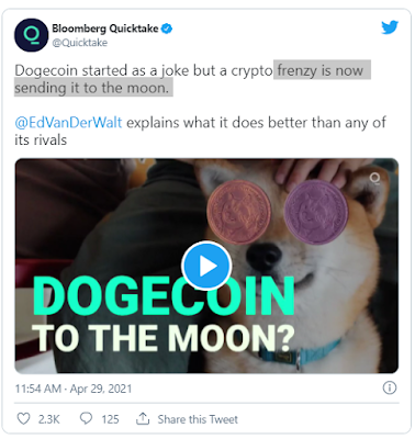 bloomberg dogecoin tweeti