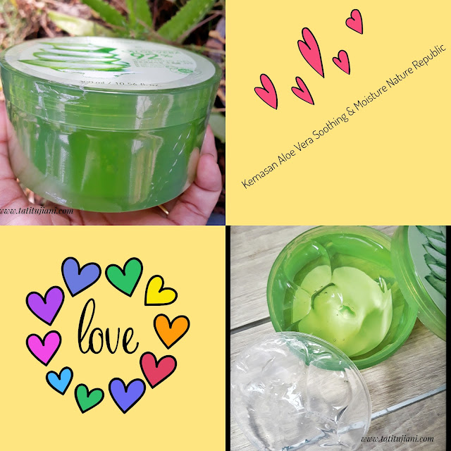 Kemasan aloe vera soothing & moisture gel nature republic