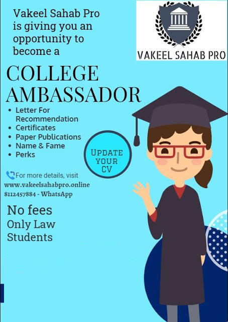 Call for Pro College Ambassador @ VAKEEL SAHAB PRO (No Fees)