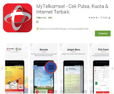 cek nomor telkomsel melalui aplikasi mytelkomsel