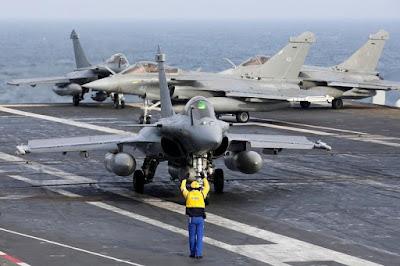 déploiement de frégates et d'avions de combat français