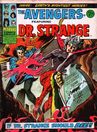 Marvel UK Avengers #72, Dr Strange and Clea