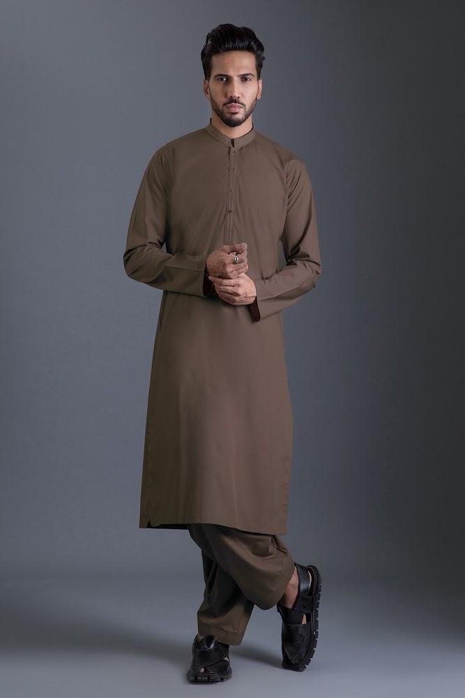 Bonanza Satrangi Brown lawn suit