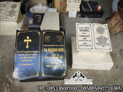 Batu Nisan Buku Murah, Nisan Model Buku, Nisan Model Buku Granit