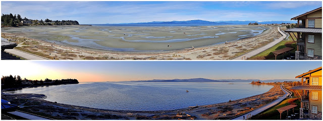 Two views of Parksville's main bay...
