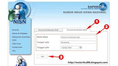 Cara Pencarian NISN Berdasarkan Nama Tempat Tanggal Lahir
