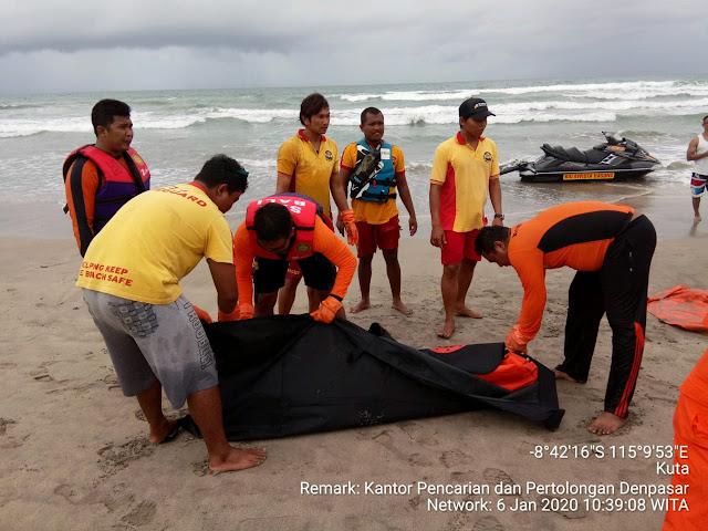 Tim SAR Temukan WNA Colombia yang Hilang Terseret Arus Pantai Kuta