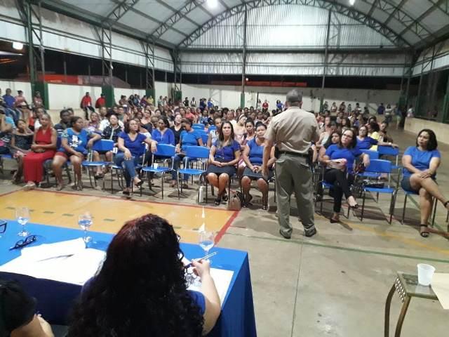 ARAGUATINS: 9º BPM participa de 2ª reunião de pais e mestres 2019 na escola Nair Duarte