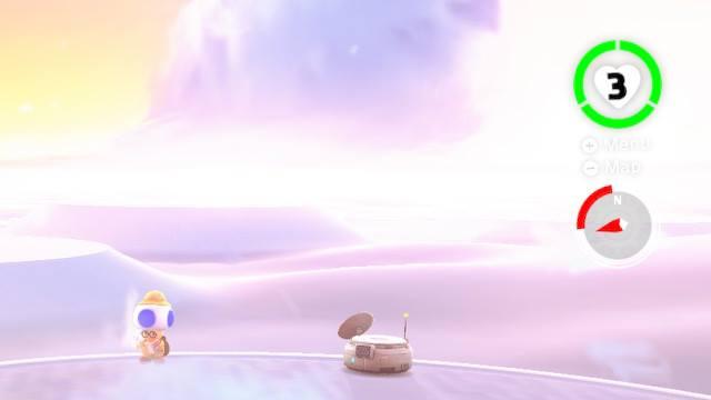 Super Mario Odyssey Cloud Kingdom Nimbus Arena Hint Toad Uncle amiibo