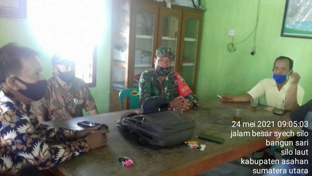 Jalin Silaturahmi, Personel Jajaran Kodim 0208/Asahan Laksanakan Anjangsana Sekaligus Puldatater di Balai Desa
