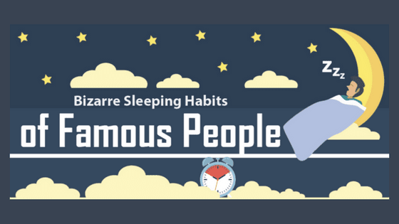 Bizarre Sleeping Habits of 61 Famous People (Infographic)