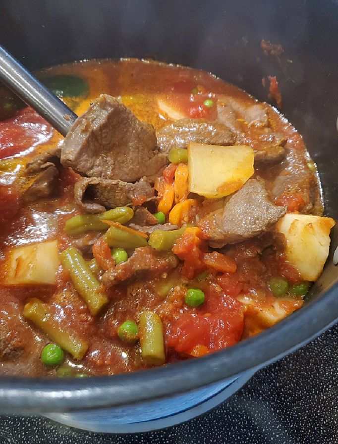 homemade beef stew recipe with fresh vegetables