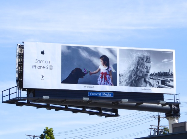 Shot on iPhone 6s Labrador billboard