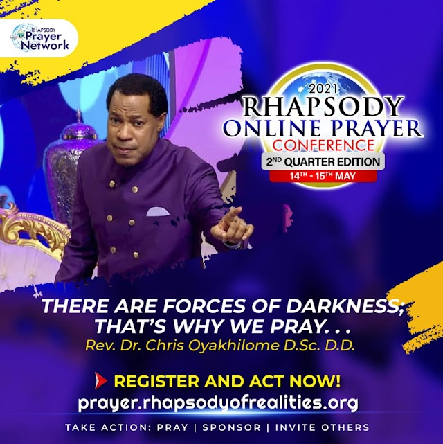 RHAPSODY ONLINE PRAYER CONFERENCE - 2ND QUARTER EDITION 14TH - 15TH MAY 2021 - LIVE STREAM!!