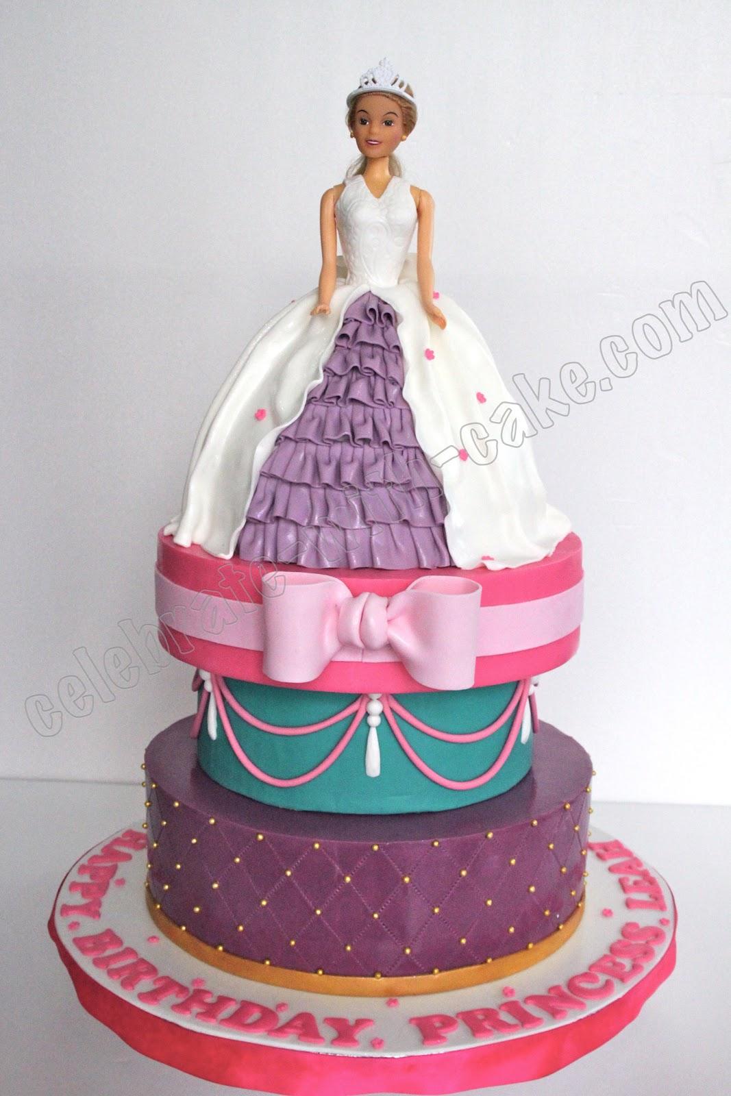 Princess Barbie 3 Tier Cake