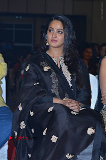 Actress Anushka Anushka Shetty Stills in Black Salwar Kameez at Om Namo Venkatesaya Audio Launch Event  0004.JPG