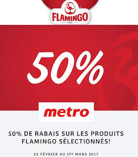 50% de rabais sur poulet flamingo chez Metro