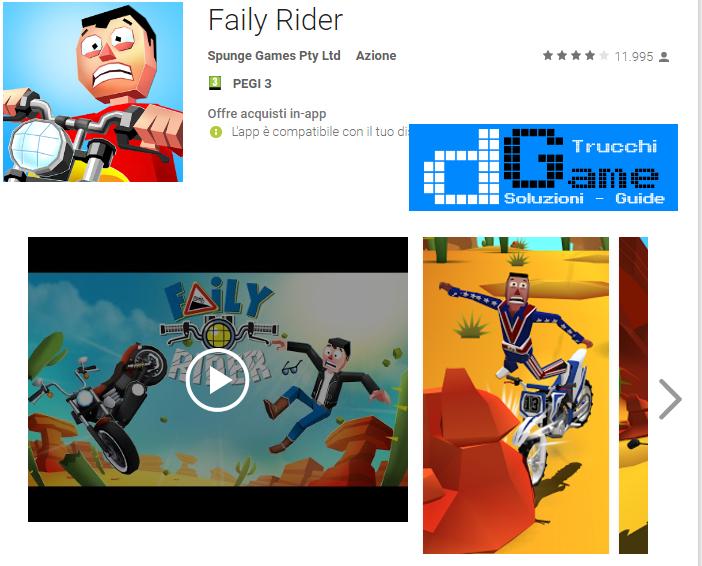 Trucchi Faily Rider Mod Apk Android v1.02