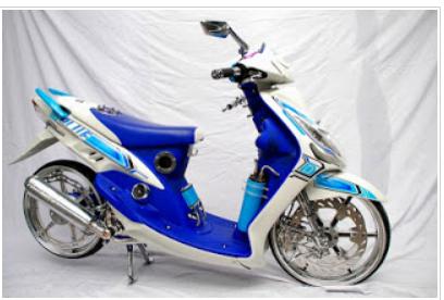 kumpulan modifikasi mio sporty standar warna biru