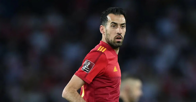 Spain captain Sergio Busquets was infected with COVID-19. Photo: AFP