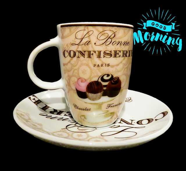 Awesome good morning photo image with coffee